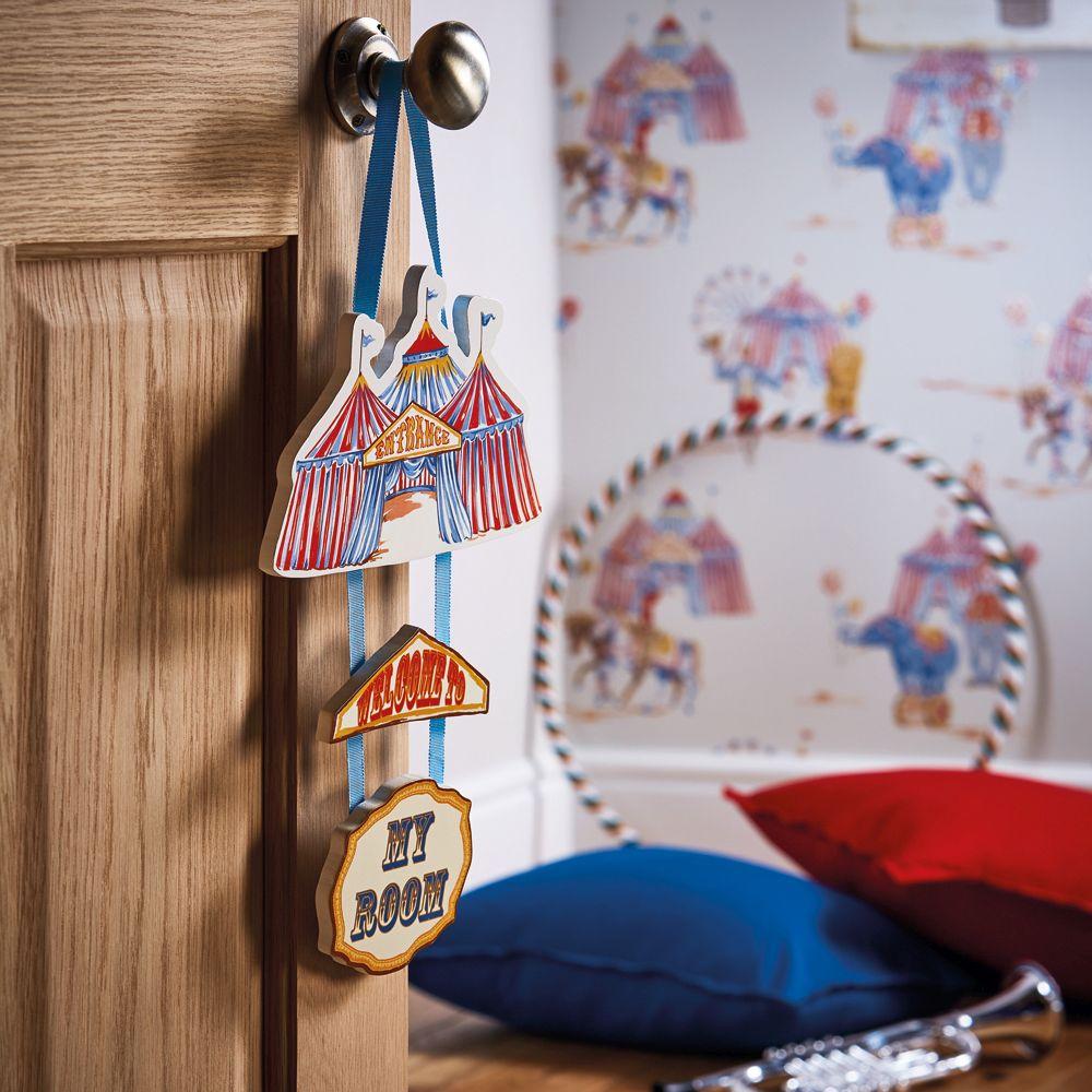 Arthouse Circus Fun Wooden Door Sign Multi Art - Product code: 004665