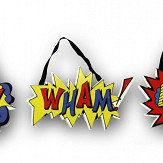 Arthouse Superhero Set of 3 Wooden Plaques Multi-coloured Art