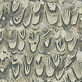 Zoffany Icarus Silver / Pheasant Wallpaper