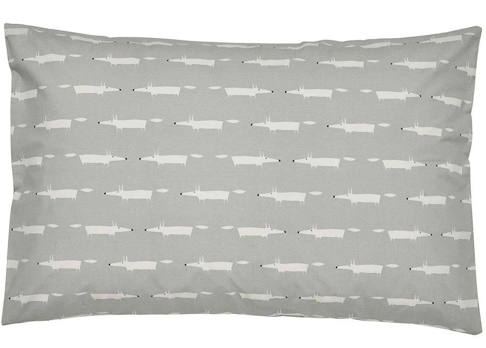 Scion Mr Fox Housewife Pillowcase Pair Silver - Product code: 179025