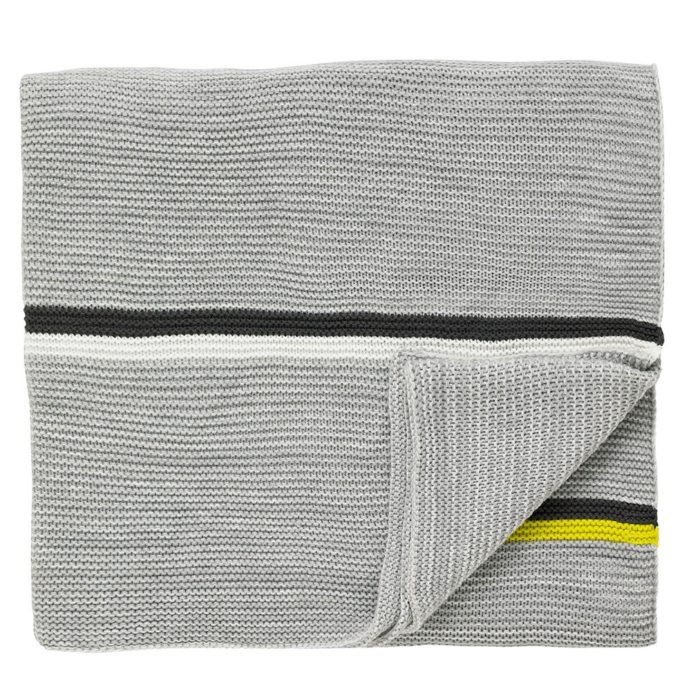 Scion Mr Fox Knitted Throw Silver - Product code: 179035