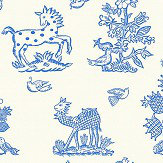 Blendworth Beasties Delft Wallpaper