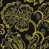 Blendworth Jacobean Tudor Gold Wallpaper - Product code: CBW176
