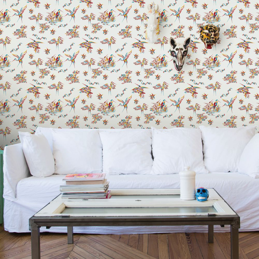 Coordonne Grulas De Papel Red and Off White Wallpaper - Product code: 5900000