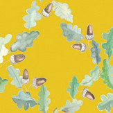 Coordonne Pirenaica Mustard Yellow Wallpaper
