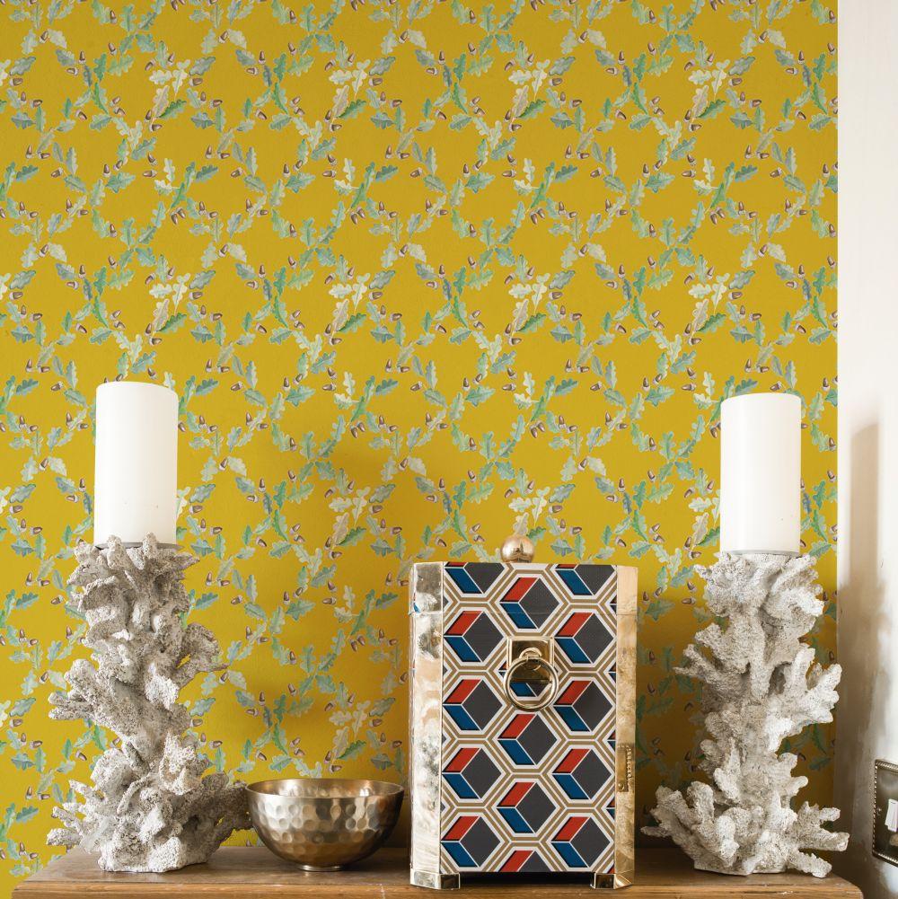 Pirenaica Wallpaper - Mustard Yellow - by Coordonne
