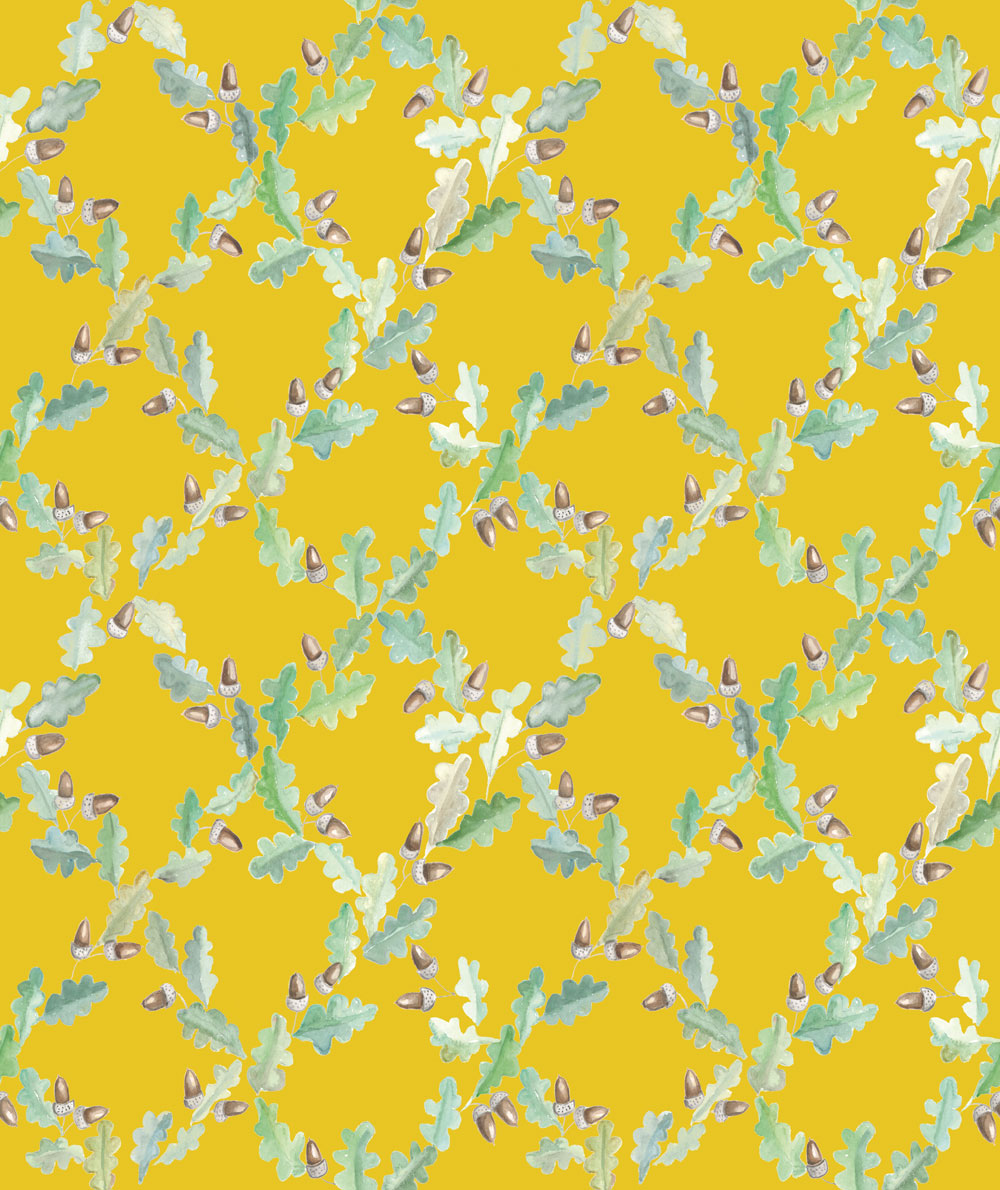 Coordonne Pirenaica Mustard Yellow Wallpaper Main Image