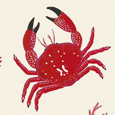 Coordonne Crustaceos Red Wallpaper