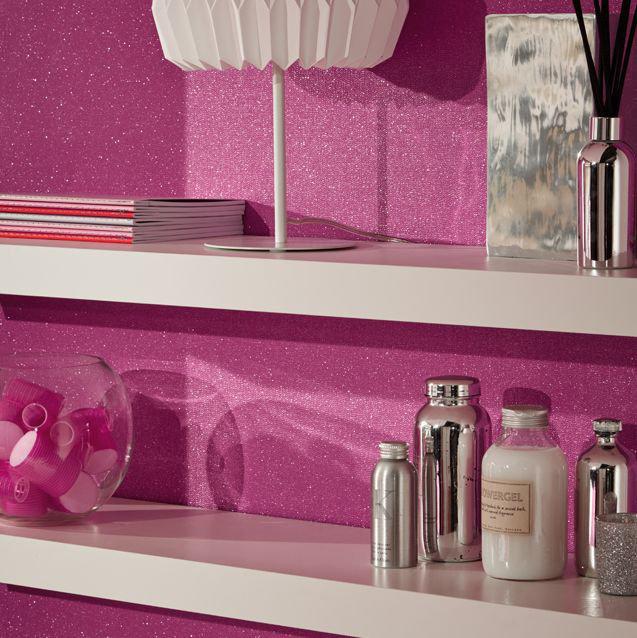 Arthouse Glitterati Plain Fuchsia Pink Wallpaper - Product code: 892106