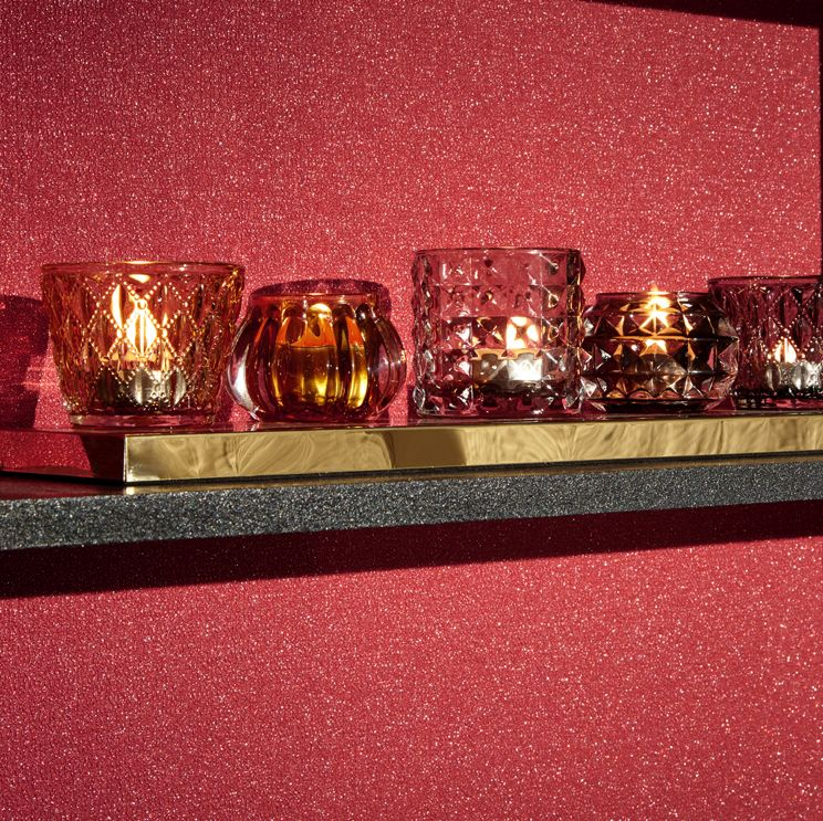 Arthouse Glitterati Plain Red Wallpaper - Product code: 892206