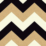 Arthouse Glitterati Chevron Black / Gold Wallpaper