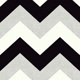 Arthouse Glitterati Chevron Black / Platinum Wallpaper