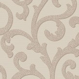 Arthouse Glitterati Scroll Mink Wallpaper