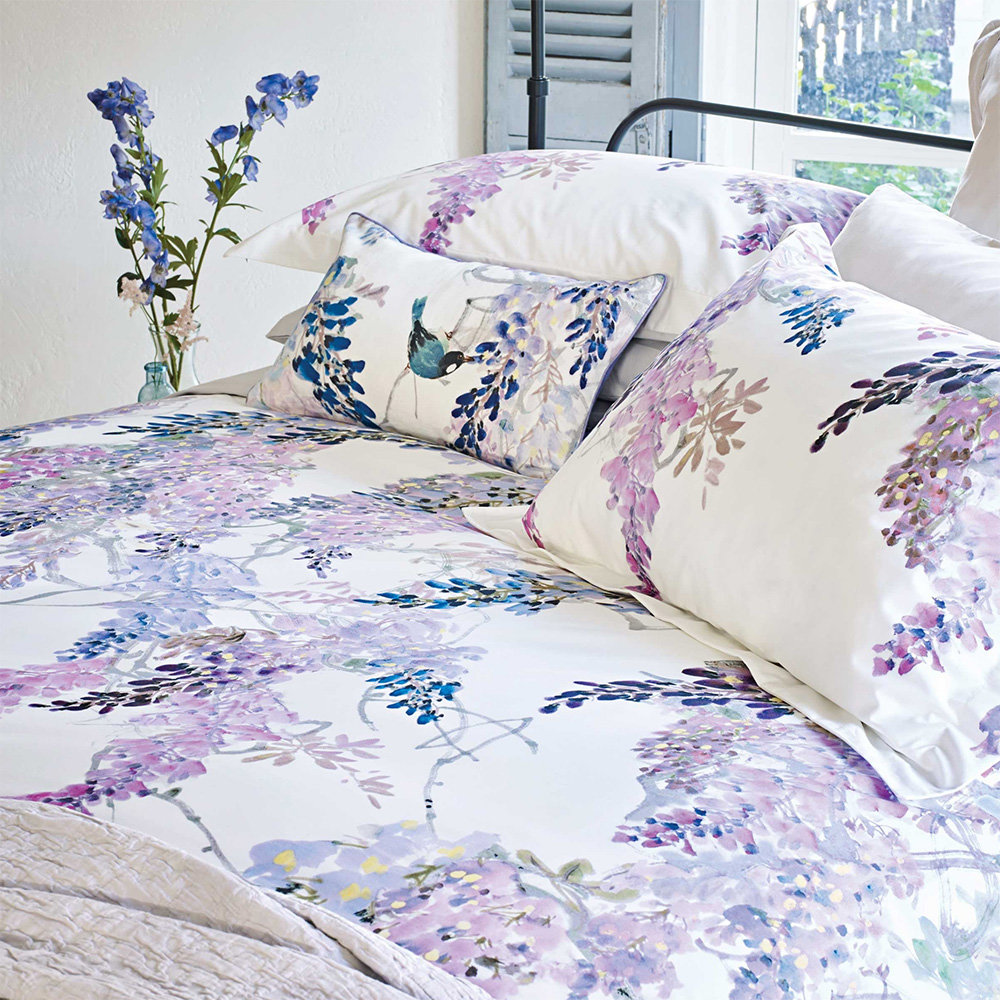 Wisteria Falls Duvet By Sanderson King Size Uk