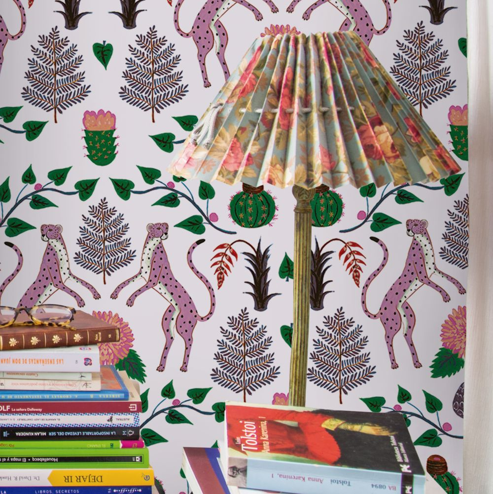 Cheetahs Wallpaper - Multi - by Coordonne
