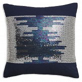 Arthouse Sparkle Stripe Cushion Midnight Blue