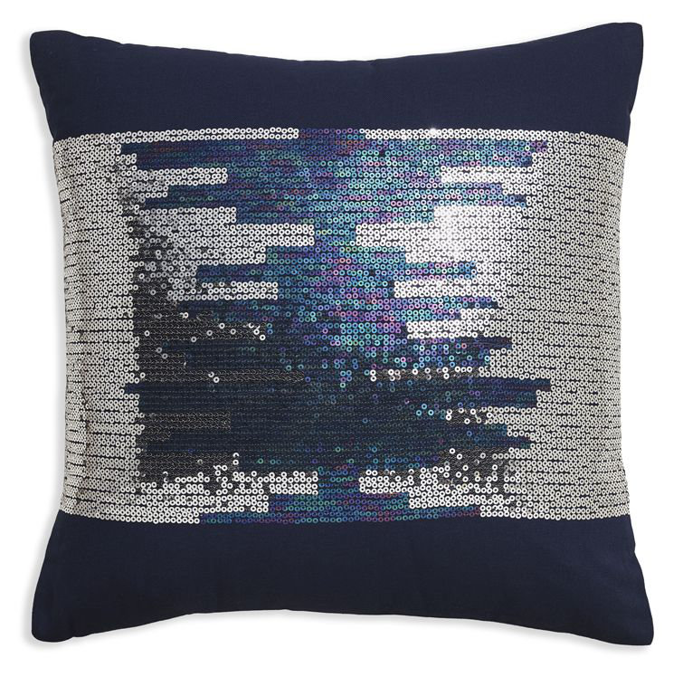 Arthouse Sparkle Stripe Cushion Midnight Blue - Product code: 008331
