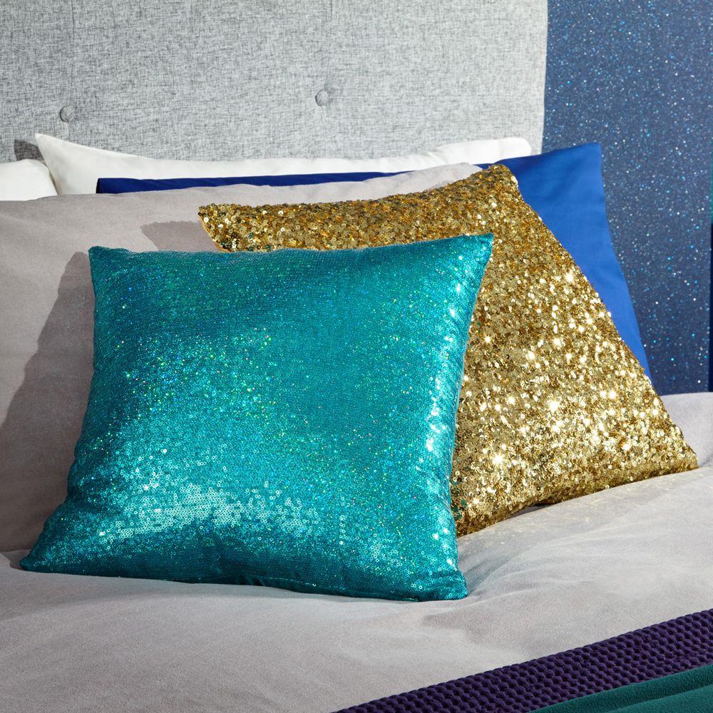 Arthouse Glitz Cushion Teal / Gold - Product code: 008332