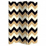 Arthouse Glitter Chevron Room Divider Black / Gold - Product code: 008362