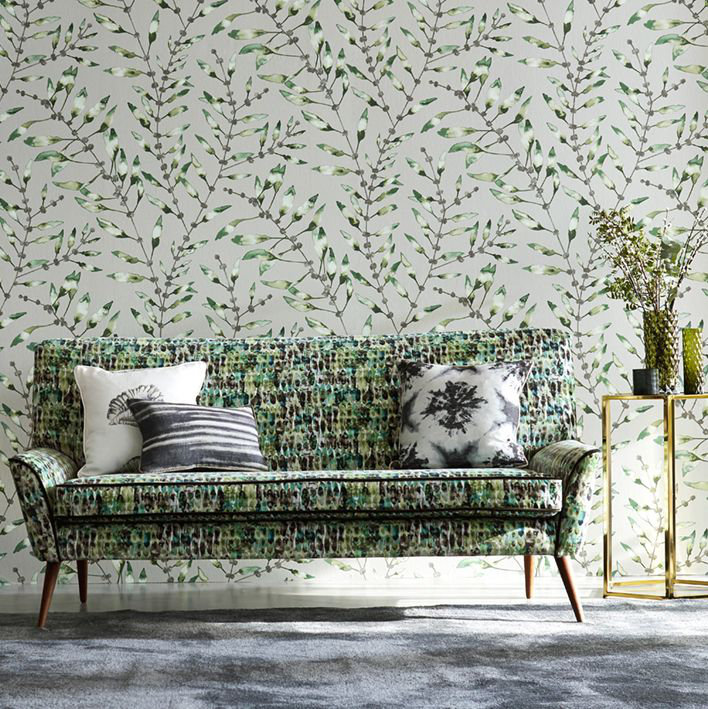 Harlequin Chaconia Emerald / Lime Wallpaper extra image