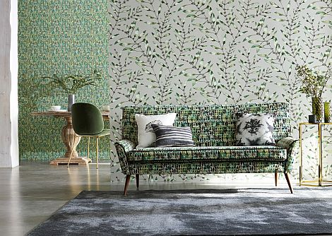 Harlequin Chaconia Emerald / Lime Wallpaper