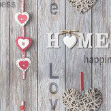 Albany Love Your Home Grey Wallpaper - Product code: 41718