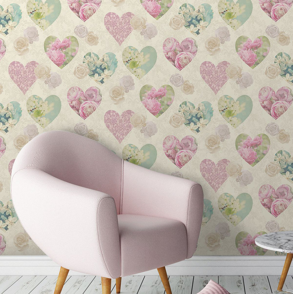 Albany Hearts Sepia Wallpaper - Product code: 41912