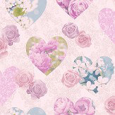 Albany Hearts Pink Wallpaper - Product code: 41913