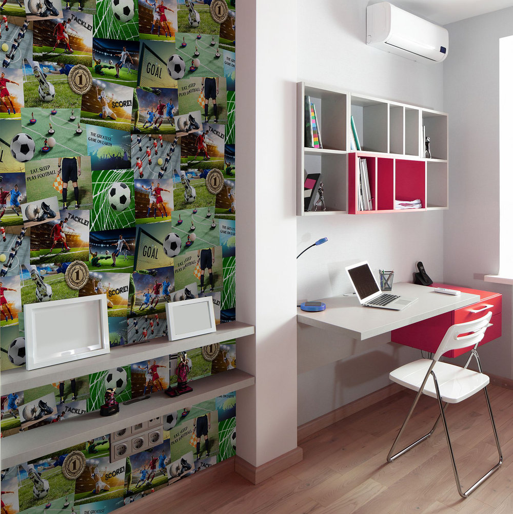 Albany Football Collage Multi-coloured Wallpaper - Product code: 41915