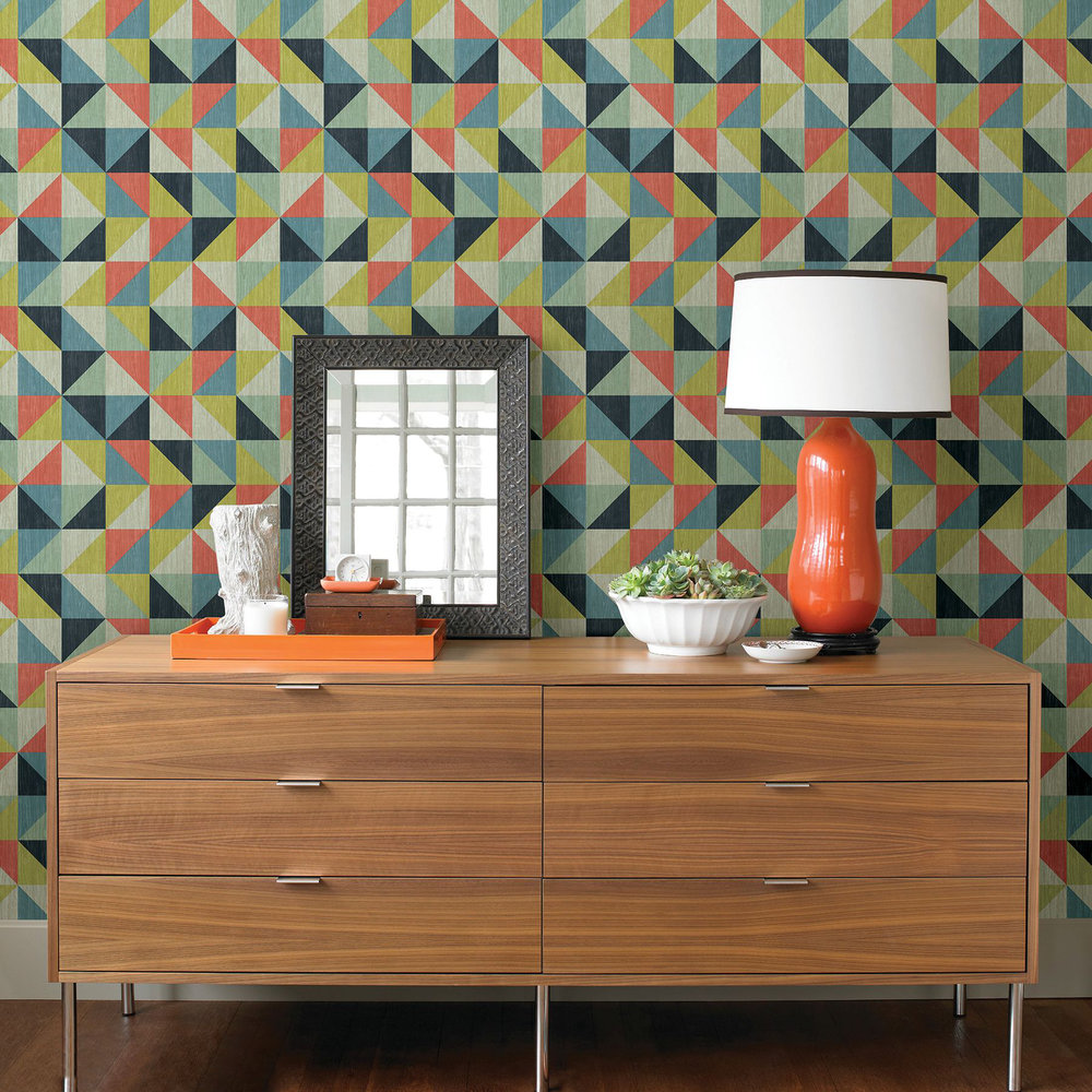 Albany Geometrie Puzzle Multi-coloured Wallpaper - Product code: 22621