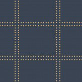 Albany Geometrie Gridlock Navy Blue Wallpaper