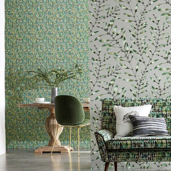 Kelambu Wallpaper - Emerald / Lime - by Harlequin