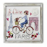 Arthouse Paris with Love filled Frame Multi-coloured Art
