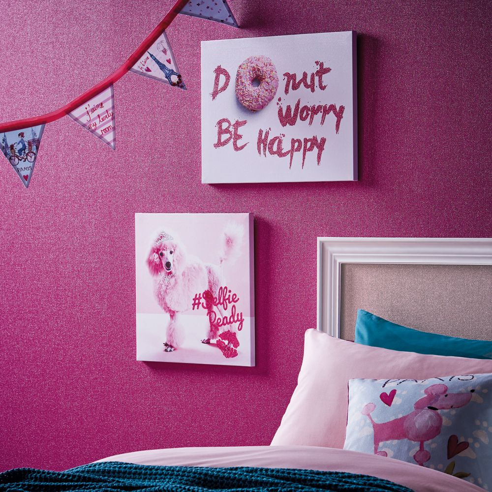 Arthouse Girls Life Be Happy Canvas Pink Art - Product code: 004673