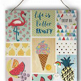 Arthouse Girls Life Magnetic Notice Board Multi-coloured Art