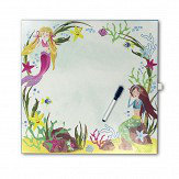 Arthouse Mermaid World Dry Erase Canvas Multi-coloured Art