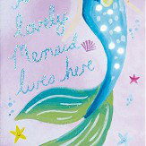 Arthouse Mermaid World Lovely LED Canvas Multi-coloured Art