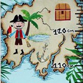 Arthouse Pirates Ahoy Height Chart Multi-coloured