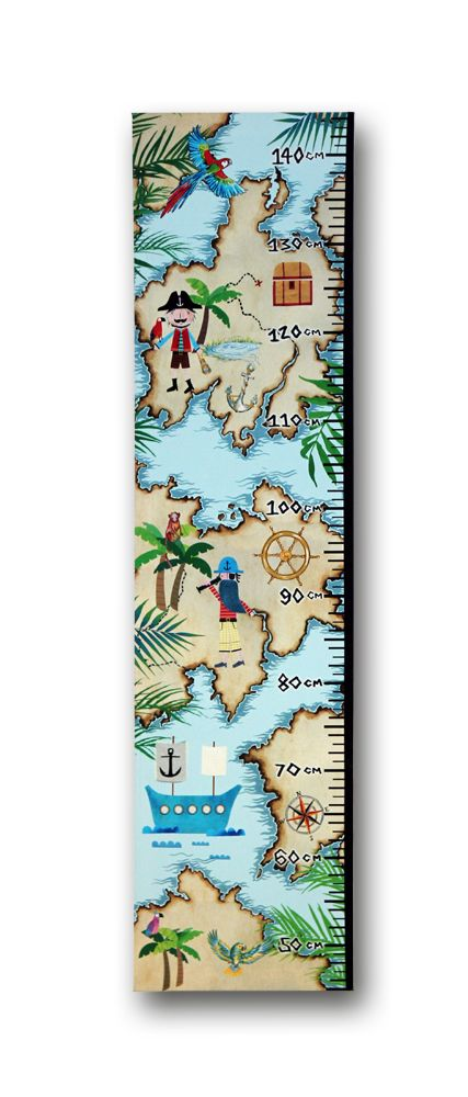 Arthouse Pirates Ahoy Height Chart Multi-coloured - Product code: 004678