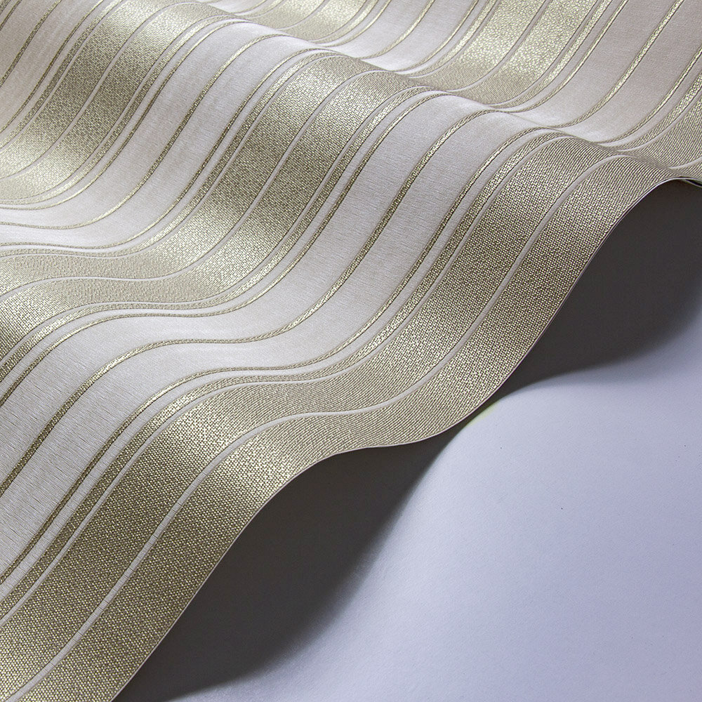 Clara Stripe Wallpaper - Sand - by Albany
