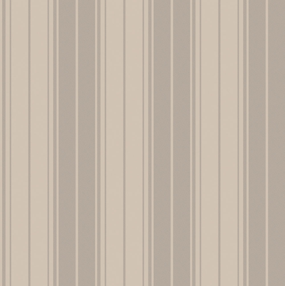 Albany Clara Stripe Taupe Wallpaper - Product code: 35402