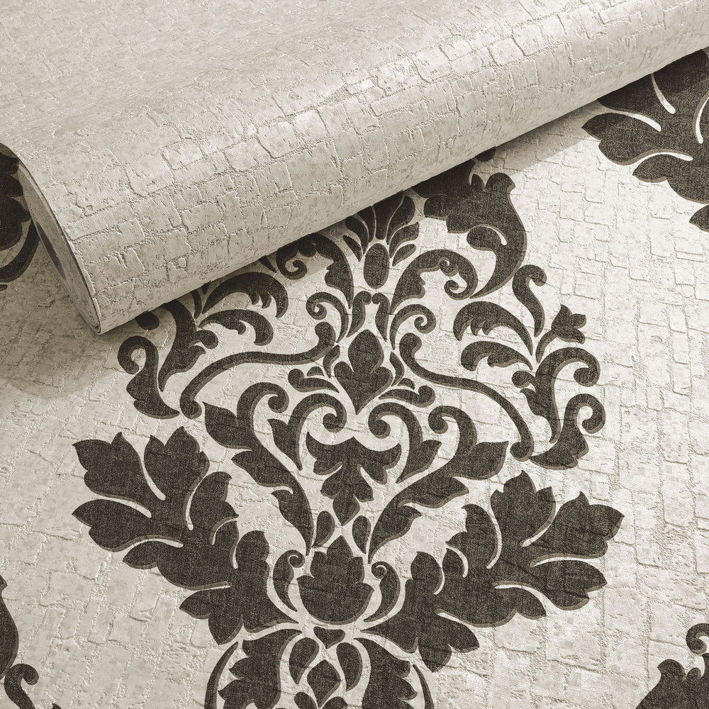 Hadrian Plain Wallpaper - Dove - by Albany