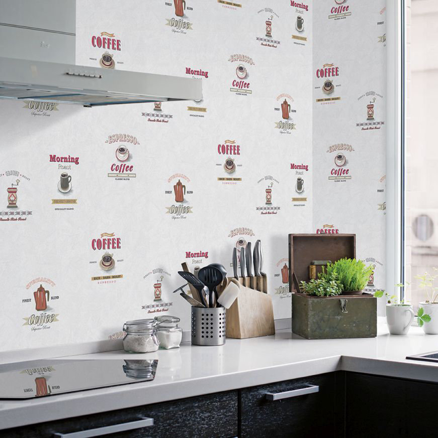 Galerie Morning Coffee White Wallpaper - Product code: G12240