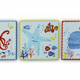 Arthouse Underworld Fun - set of 3 canvases Multi-coloured Art
