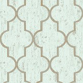 The Paper Partnership Clayton Aqua Wallpaper
