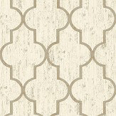 The Paper Partnership Clayton Gold Wallpaper