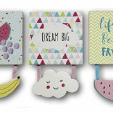 Arthouse Dream Big - Set of 3 Canvases Multi-coloured Art