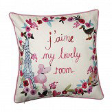 Arthouse Paris with Love Cushion Multi-coloured