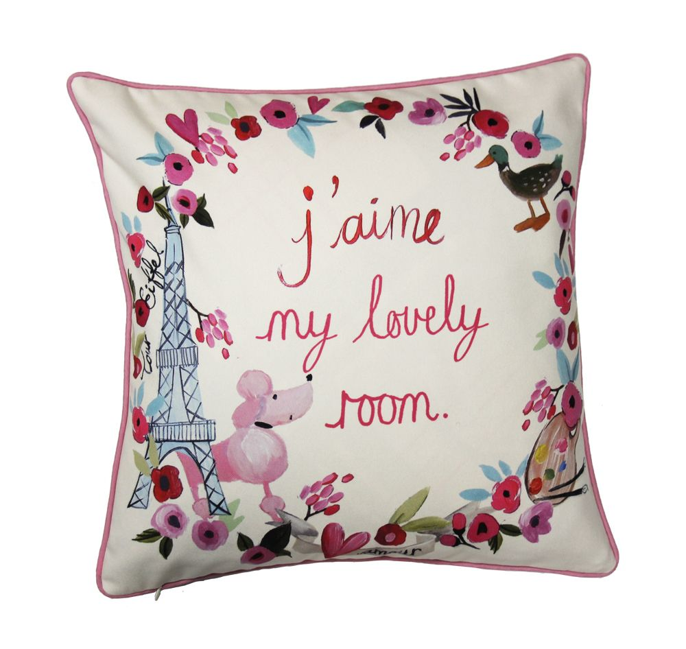 Paris with Love Cushion - Multi-coloured - by Arthouse