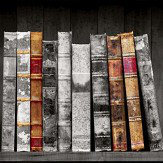 Albany Vintage Books Grey Wallpaper - Product code: 11951